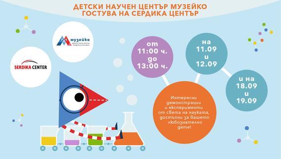 Екипът на Музейко ще гостува в Serdika Center!